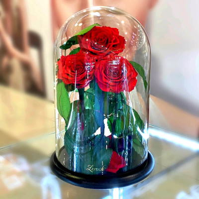 Bouquets of roses in a flask ➖➤ different colors from 2500 UAH