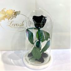 Чорна троянда в колбі Lerosh - Classic 27 см