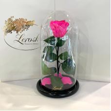 Яскраво-рожева Фуксія троянда в колбі Lerosh - Classic 27 см