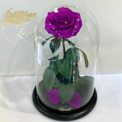 Фіолетова троянда в колбі Lerosh -  Lux 33 см ORIGINAL
