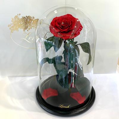 Красная Бриллиантовая роза в колбе Lerosh - Lux 33 см