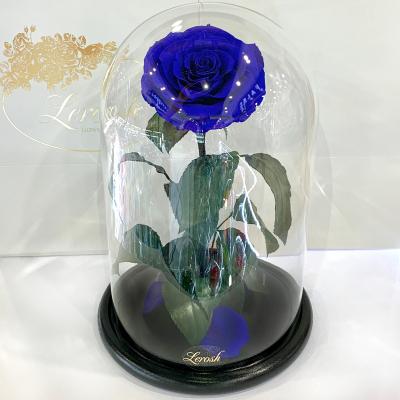 Синяя роза в колбе Lerosh - Lux 33 см ORIGINAL