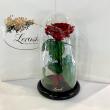 Темно-Красная роза в колбе Lerosh - Premium 27 см ORIGINAL