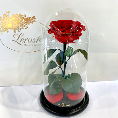 Roses in a flask Premium 27 cm ➖➤ different colors from 1700 UAH