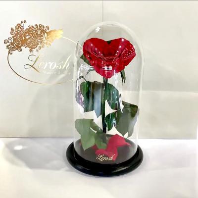 Червона троянда в колбі Серце Lerosh - Premium 27 см ORIGINAL