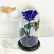 Синяя роза в колбе Lerosh - Premium 27 см ORIGINAL