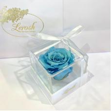 Blue Preserved Rosebud Gift Box Lerosh - Classic