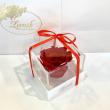 Красный стабилизированный бутон розы в подарочной коробке Lerosh - Classic ORIGINAL