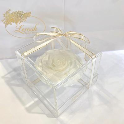 White Preserved Rosebud Gift Box Lerosh - Premium