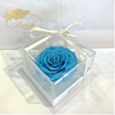Blue Preserved Rosebud Gift Box Lerosh - Premium
