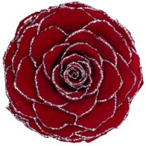 Роза в колбе с блестками
