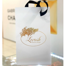 Gift White Cardboard Bud Bag in Lerosh Box (13*18*18cm)