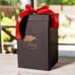 Подарочная ВАУ коробка черная для розы в колбе Lerosh 27 см ORIGINAL