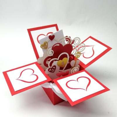 Об'ємна ексклюзивна листівка коробочка З любов'ю ORIGINAL