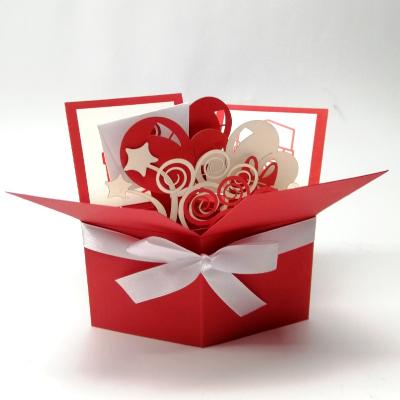 Объемная эксклюзивная открытка коробочка Поздравляю!
